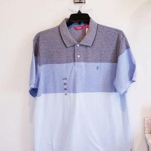 IZOD NWT blue color blick polo shirt size XL